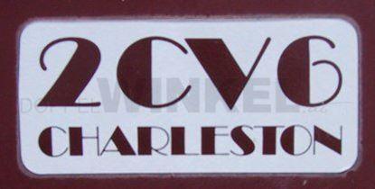 Bild von Aufkleber 2CV6 Charleston